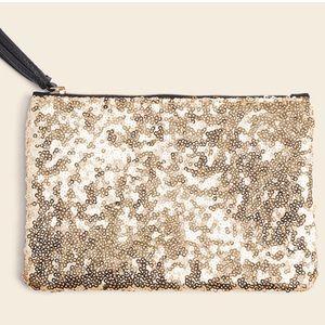 Ipsy Gold Sequin Make Up Bag
